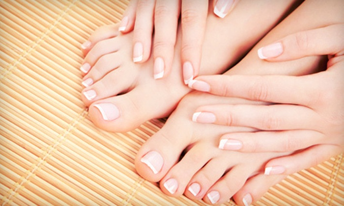 Taylor's Simply Natural Nail Spa - C/O Sola Salon Studios: Basic Spa Manicure or Spa Pedicure or Express Mani-Pedi at Taylor's Simply Natural Nail Spa (Half Off)