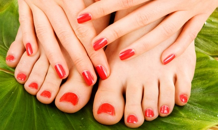 One or Two Spa Mani-Pedis at Vogue Nails by Heidi (Up to 54% Off)