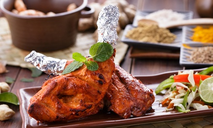 TwoCourse Indian Meal for Two People $35 with Optional Wine $39 at Secret Recipe Up to $72.95 Value