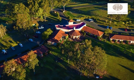 Hunter Valley: Two or ThreeNight Getaway for Two with Wine Tour, Food Credit, and Canapes at Estate TuscanyPokolbin