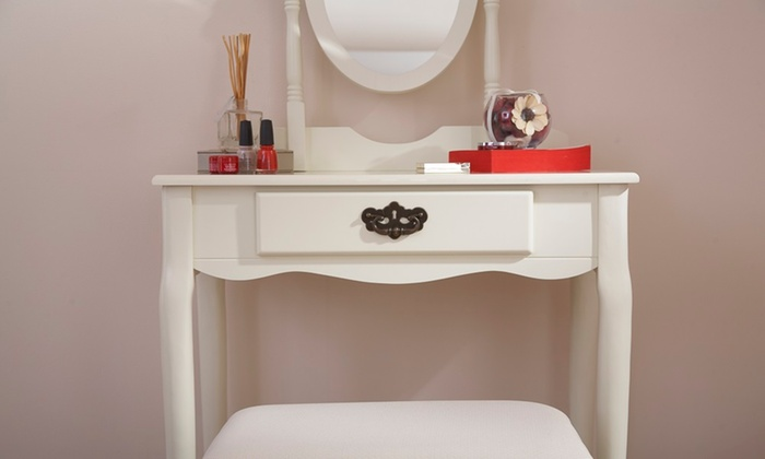 new product ee84b 081cf Amelia Dressing Table and Stool | Groupon Goods