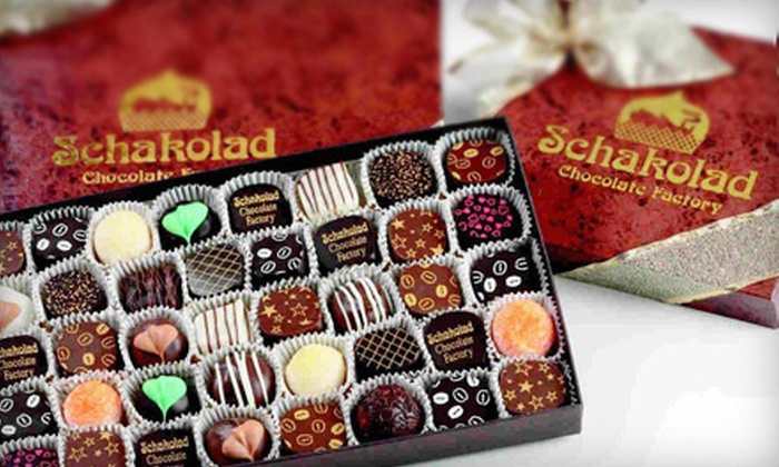 Schakolad Chocolate Factory - San Antonio: $13 for $28 Worth of Hand-Dipped Chocolates and Truffles at Schakolad Chocolate Factory