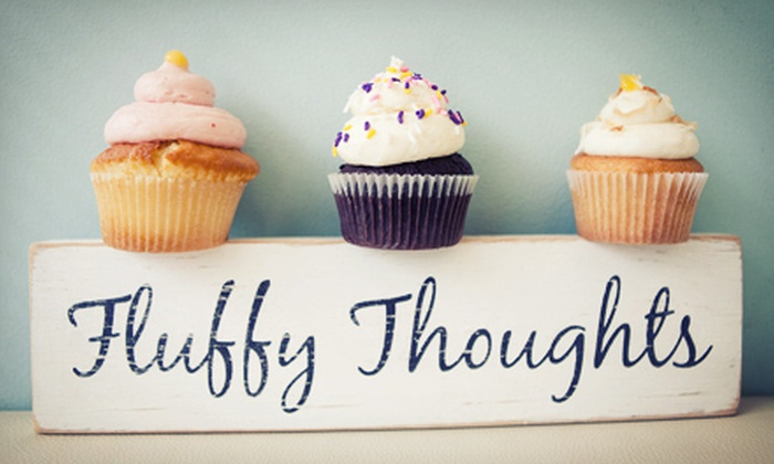 Fluffy Thoughts Cakes - McLean: Baked Goods or One Dozen Classic or Specialty Cupcakes at Fluffy Thoughts Cakes (Half Off)