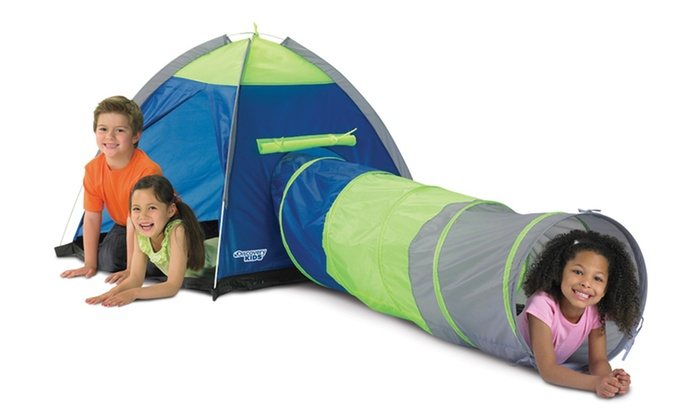 Discovery Kid's Two-Piece Play Tent: Discovery Kid's Two-Piece Adventure Play Tent. Free Shipping and Returns.