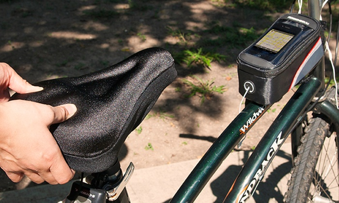 Better Biking Bundle with Seat Cover and Pannier: Better Biking Bundle with Gel Seat Cover and Front-Tube Pannier. Free Returns.