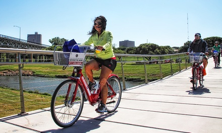 Four-Pack of 24-Hour Bike Rental Vouchers or One 7-Day Bike Rental at Fort Worth B-Cycle (Up to 50% Off)
