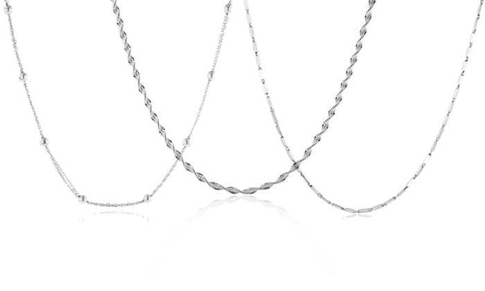 Sterling Silver Necklaces: Sterling Silver Necklaces (Up to 87% Off). 22 Styles Available.
