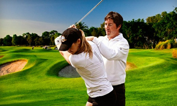 TourBound Golf Academy - Multiple Locations: Private One-Hour Golf Lesson with Optional $10 Food Voucher at TourBound Golf Academy (Up to 75% Off)