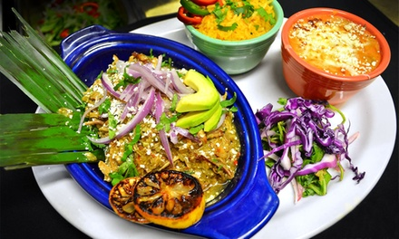 Mexican Food for Lunch or Dinner at Mezcal Cantina y Cocina (Up to 50% Off). Four Options Available.