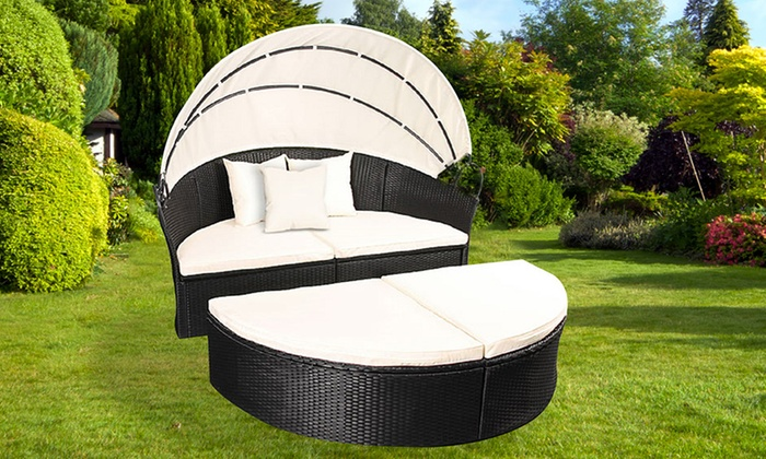rattan garden daybed groupon goods