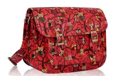 Oilcloth Owl Design Satchel for £14.99 (58% Off)