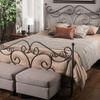 Haven Whimsical Dark-Bronze Iron Queen Bed Frame
