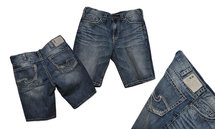 Silver Jeans Men's Grayson Faded Denim Short: Silver Jeans Men's Grayson Faded Denim Short. Free Shipping.