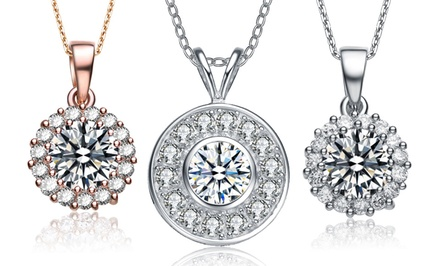 Simulated Diamond Pavé Necklaces. Multiple Styles Available.