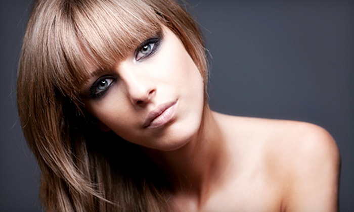 Jeffrey On Hair - Fairlawn: Haircut, Condition, and Style with Options for All-Over Color or Partial Highlights at Jeffrey On Hair (Up to 67% Off)