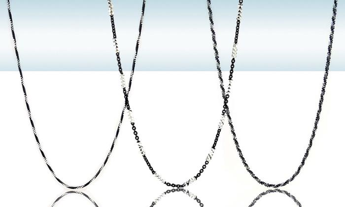 Black Rhodium-Plated Silver Chains: Black-Rhodium-Plated Silver Chains. Multiple Styles Available. Free Returns.