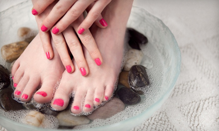 Herbal & Wellness Mani/Pedi by April - Sunnyside: $33 for an Express Shellac Manicure and an Express Pedicure at Herbal & Wellness Mani/Pedi by April ($67 Value)