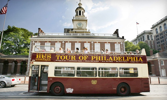 Philadelphia Trolley Works - Multiple Locations: 48-Hour Hop-On Hop-Off Bus Tour or Franklin's Footsteps Walking Tour from Philadelphia Trolley Works (Up to 55% Off)