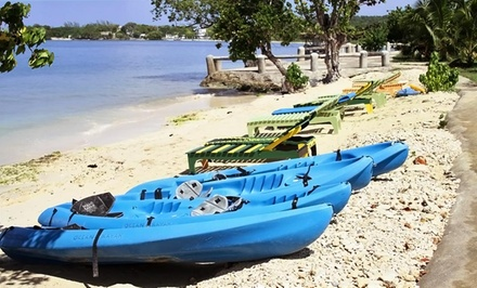 Groupon Deal: 3-, 4-, or 5-Night Stay with Daily Breakfast and Kayak Tour for Two at Little Bay Cabins in Little Bay, Jamaica