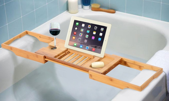 Up To 60% Off Bamboo Bath Caddy | Groupon