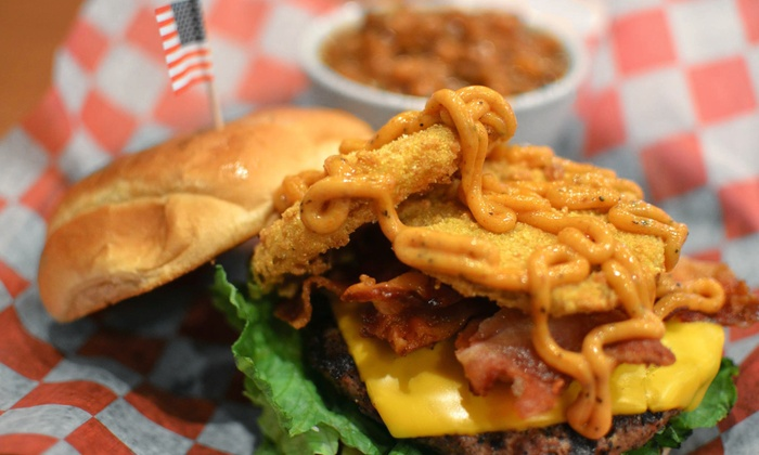 Pbodys - Clarksville: Burgers, Chicken, and Steak at Pbodys (Up to 42% Off). Two Options Available.
