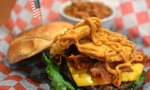 Pbodys: Burgers, Chicken, and Steak at Pbodys (Up to 42% Off). Two Options Available.