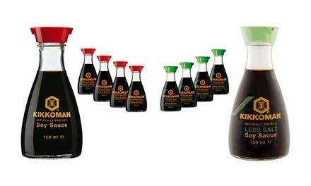 4 o 8 confezioni di salsa di soia classica e salsa di soia a basso contenuto di sale Kikkoman