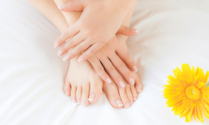Glorious Remy Hair - Illinois Medical District: No-Chip Manicure with Spa Pedicure or a Full Set of Stiletto or Ballerina Nails at Glorious Remy Hair (52% Off)
