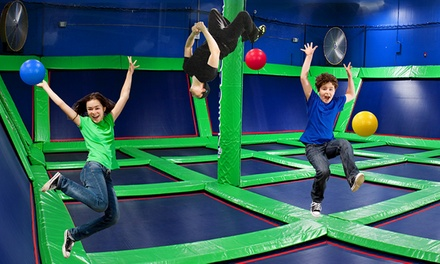 Two or Four Hours of Indoor Trampoline Jump Time at Rebounderz Manassas (Up to 50% Off)