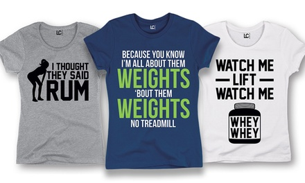 Women's Fitness Humor T-Shirts (Plus Sizes Available)