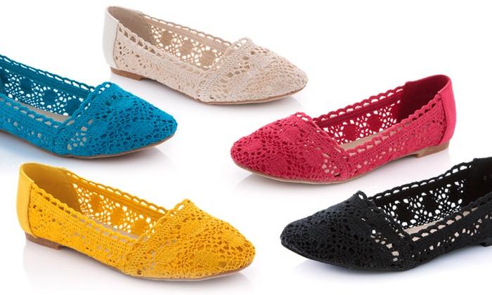 Lady Godiva Crochet Flat Shoes