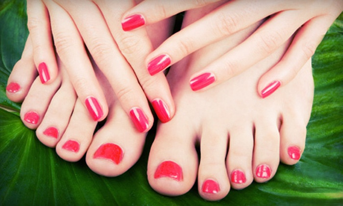 Modern Elegance Salon and Spa - Central Oklahoma City: $35 for a Spa Mani-Pedi at Modern Elegance Salon and Spa ($70 Value)