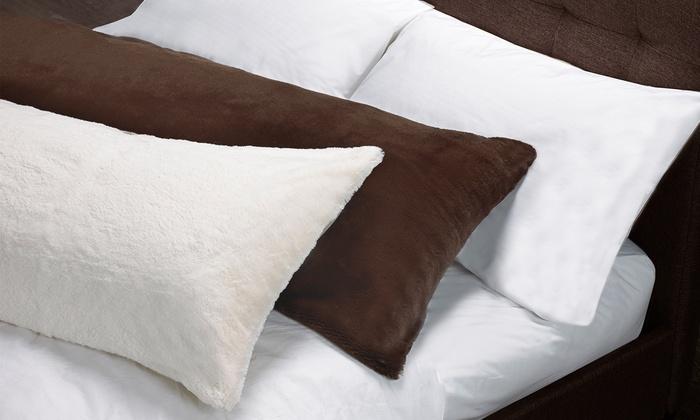 Faux Fur Body Pillow Case Groupon Amazing Faux Fur Body Pillow Cover