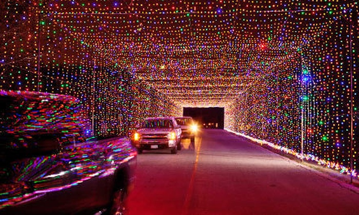 Prairie Lights - Lynn Creek Park: Drive-Thru Holiday Light Park and Two Shows at Prairie Lights (Up to Half Off). Six Options Available.