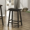 Set of 2 Cappuccino Saddle-Seat Barstools