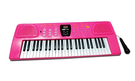49-Key Beginner Electronic Keyboard with Microphone
