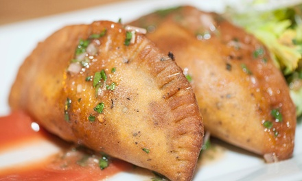$15 Worth Lunch or Dinner, Six Empanadas for Pick-up, or Meals for Two or Four at VSpot (Up to 53% Off)