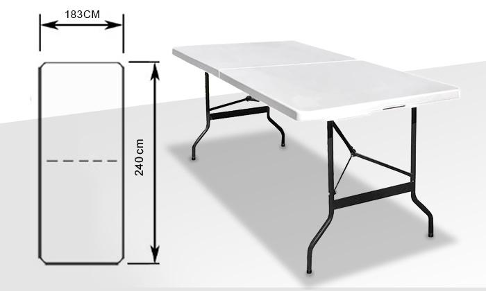 table de buffet pliante groupon shopping. Black Bedroom Furniture Sets. Home Design Ideas