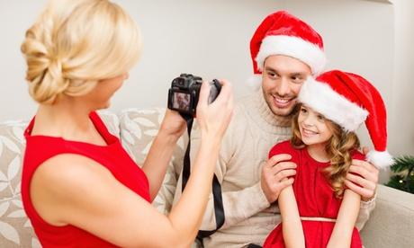 Sesión fotográfica navideña con CD por 24 € y con 1 fotografía impresa y 10 postales por 29 €