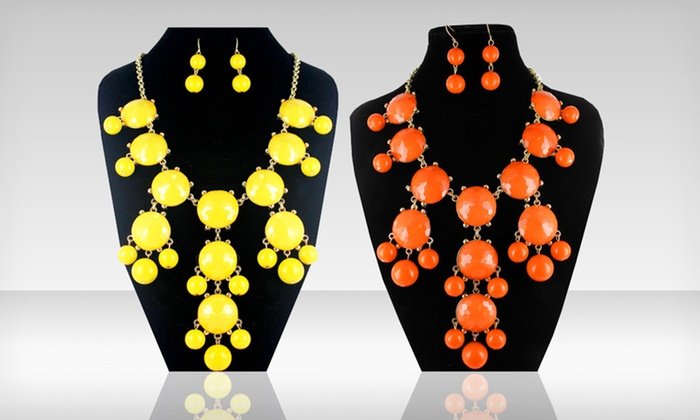 Bubble Necklace and Matching Earring Set: $11.99 for Bubble Necklace and Matching Earring Set ($88 List Price). Multiple Colors Available. Free Returns.