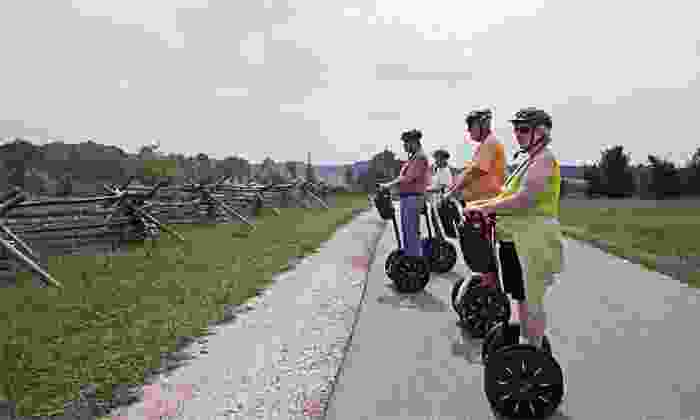 SegTours - Gettysburg: 90 Minute Escorted Segway Ride Through Gettysburg for One or Two from SegTours (Up to 46% Off)