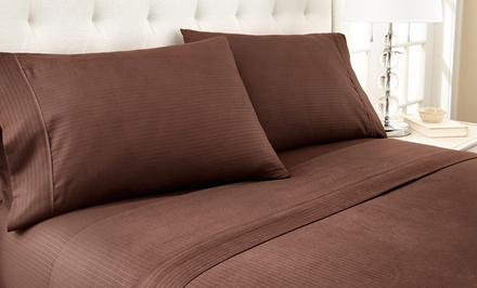 Hotel New York Microfiber Embossed Pinstripe Sheet Sets. Multiple Options Available from $19.99-$29.99. Free Returns.