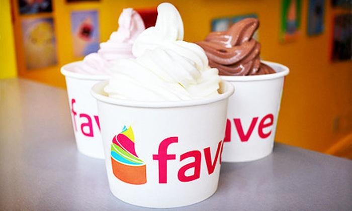 fave - Hyde Park: $10 for Four 10 Oz. Frozen Yogurts at fave ($22 Value)