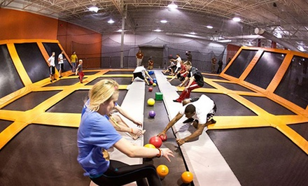 One-Hour Trampoline Session for Two or Birthday Party for 10 at AirTime Trampoline & Game Park (54% Off)