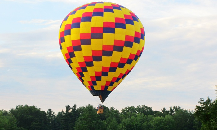 A&A Balloon Rides, LLC - A&A Balloon Rides, LLC: $299 for a Sunrise Semi-Private Hot Air Balloon Ride for Two with Champagne from A&A Balloon Rides, LLC ($450 Valu