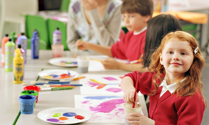 Unpluggits Playstudio - Edmond: $12 for Three Kids' Paint'n Play Visits at Unpluggits Playstudio (Up to $21 Value)