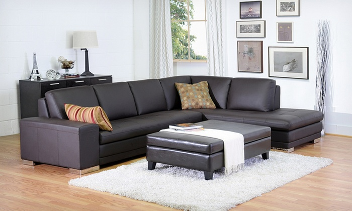 Leather Storage Ottomans: Leather Storage Ottomans (Up to 63% Off). Multiple Designs Available.