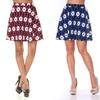 White Mark Women's Patterned Flare Skirt