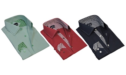 Rosso Milano Men's Modern Fit Dress Shirts