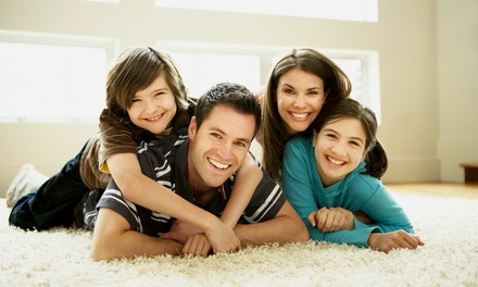 Residue-Free Carpet Cleaning for Three or Five Rooms from Clean Green (Up to 59% Off). Three Options Available.